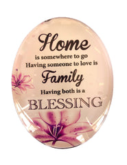 Resin Magnet: 'Home Family Blessing'