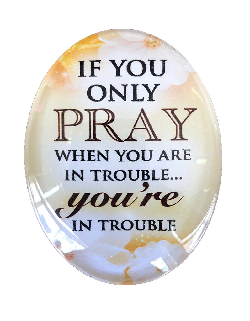 Resin Magnet: 'Pray'