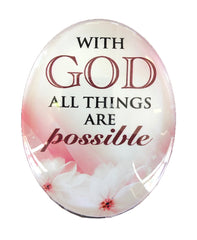 Resin Magnet: 'With God all Things are Possible'