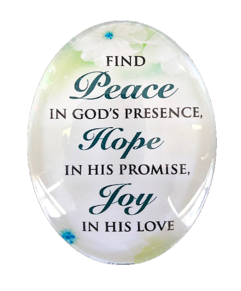 Resin Magnet: 'Peace Hope Joy'