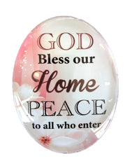 Resin Magnet: 'God Bless our Home'