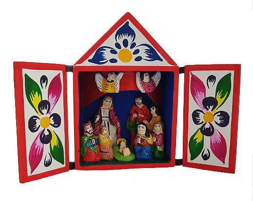 Peruvian Matchbox Nativity 80mm x 80mm