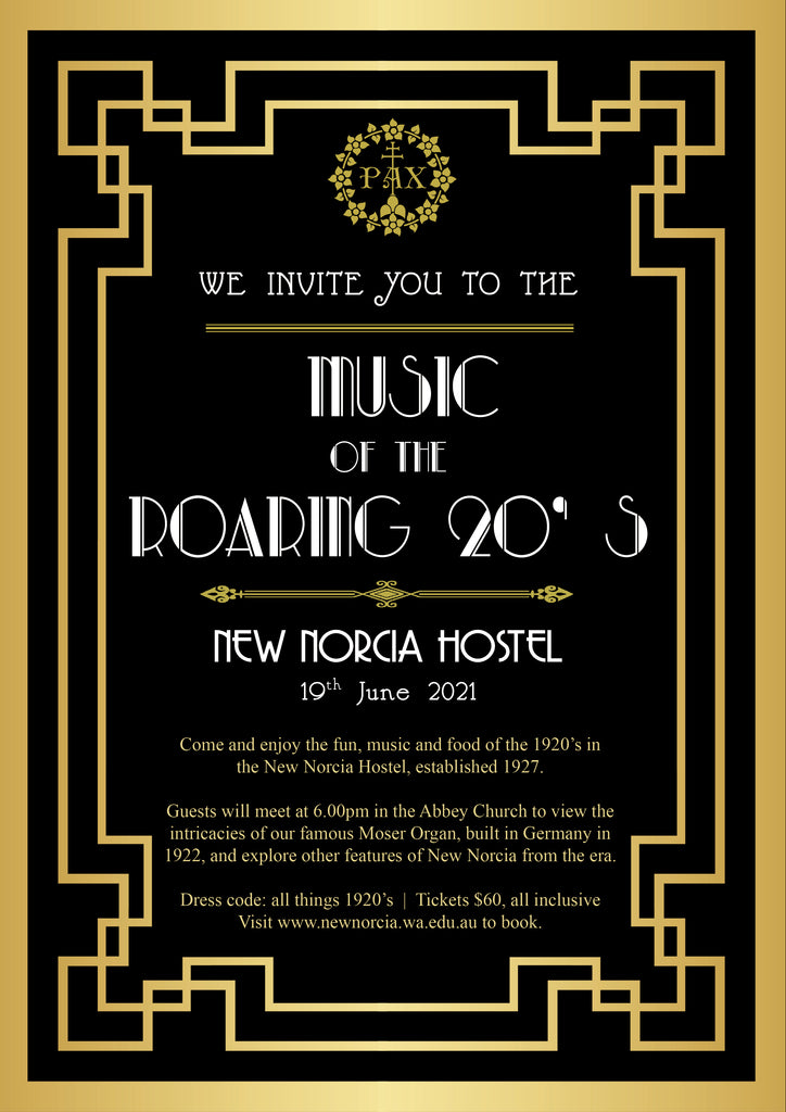 Music of the Roaring 20's at the New Norcia Hostel - 19th June 2021