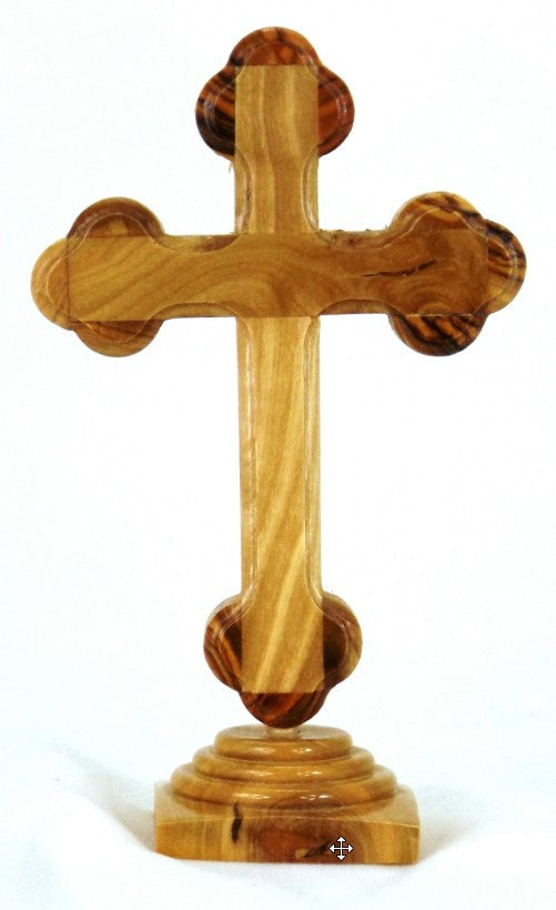Olive Wood Standing Cross - 12cm
