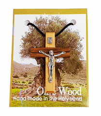 Olive Wood Crucifix Pendant