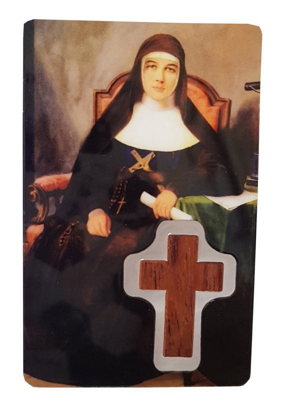 Prayer Card - Mary MacKillop with Cross