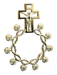 Metal Rosary Ring -  Gold or Silver