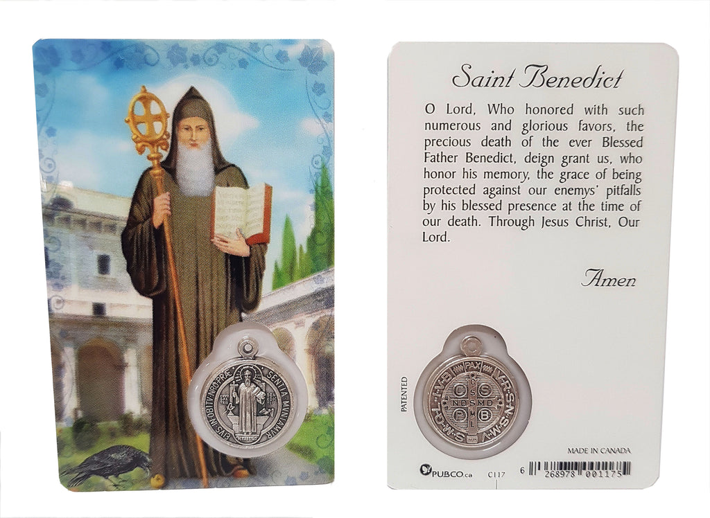 St Benedict Prayer Card