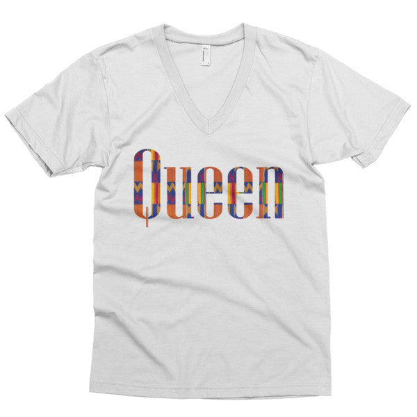 Queen Kente V-Neck Tee | The Moxie Shoppe