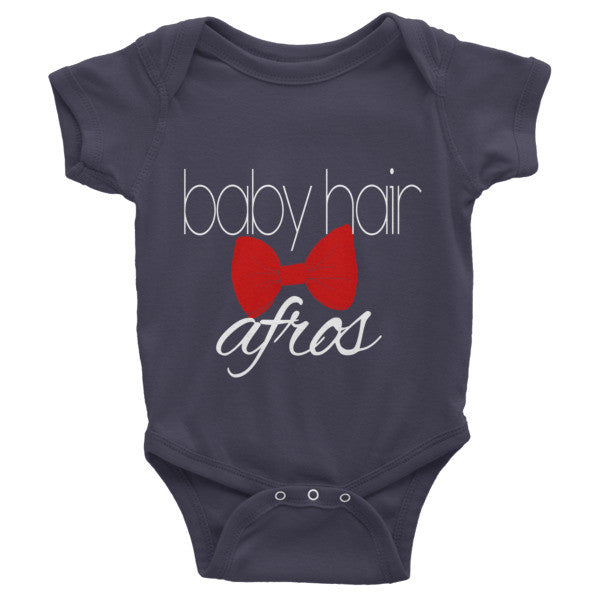 """Baby Hair and Afros"" Infant Onsie 