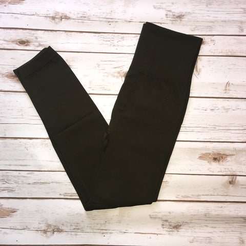 Tummy Control Leggings - Olive