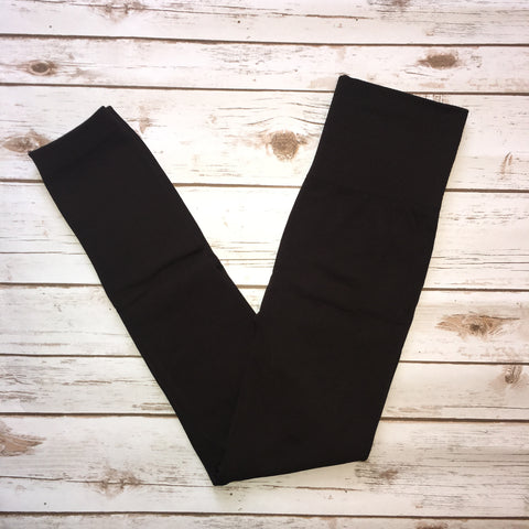 Tummy Control Leggings - dark brown
