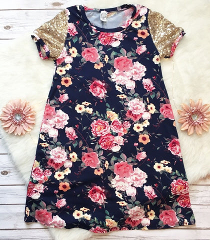 Floral sequin dress