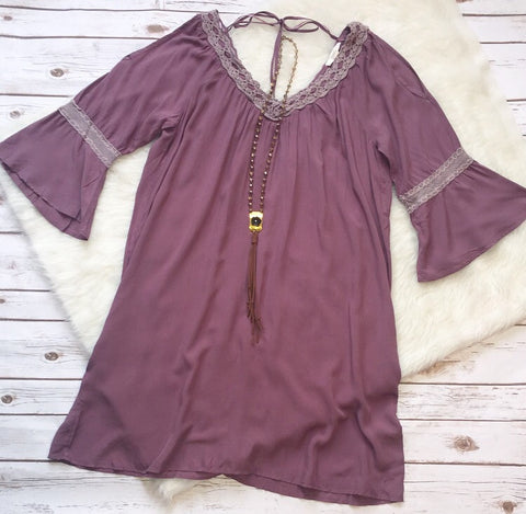 Purple peasant dress