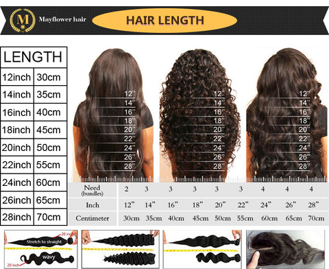 Mayflower Hair Size Chart