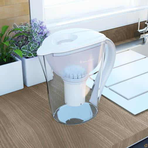 pH RESTORE Alkaline Water Pitcher on counter