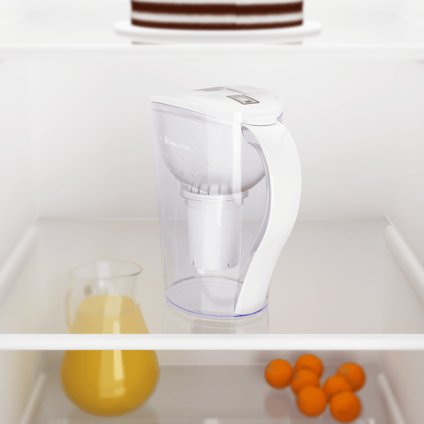 pH RESTORE Alkaline Water Pitcher in fridge