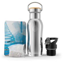 Load image into Gallery viewer, pH ACTIVE (Steel) Alkaline Water Bottle