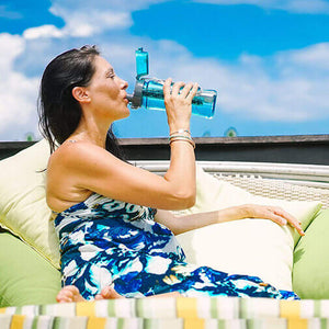 pH REVIVE Alkaline Water Bottle drinking