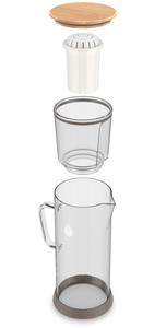pH RESTORE (Glass) Alkaline Water Pitcher parts