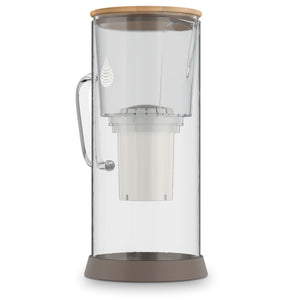 pH RESTORE (Glass) Alkaline Water Pitcher side