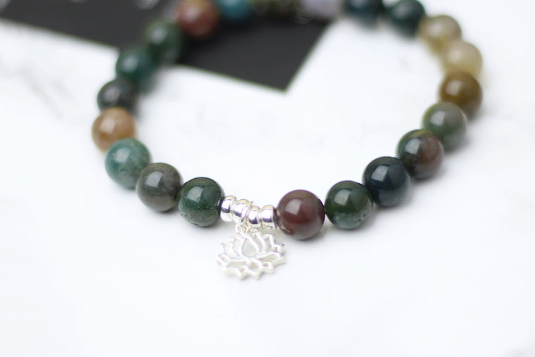 Good Luck Indian Agate Wrist Mala