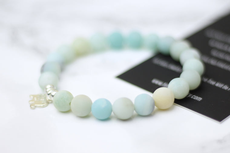 Self-Love & Honor Amazonite Wrist Mala
