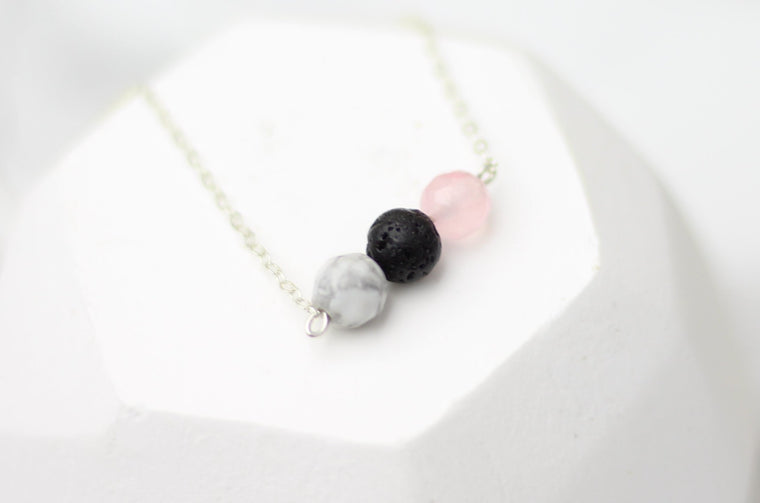 Anti-Anxiety Lava Bar Diffuser Necklace