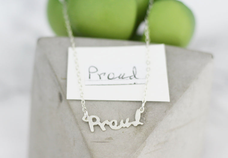 MissYou Actual Handwriting Customized Horizontal Necklace