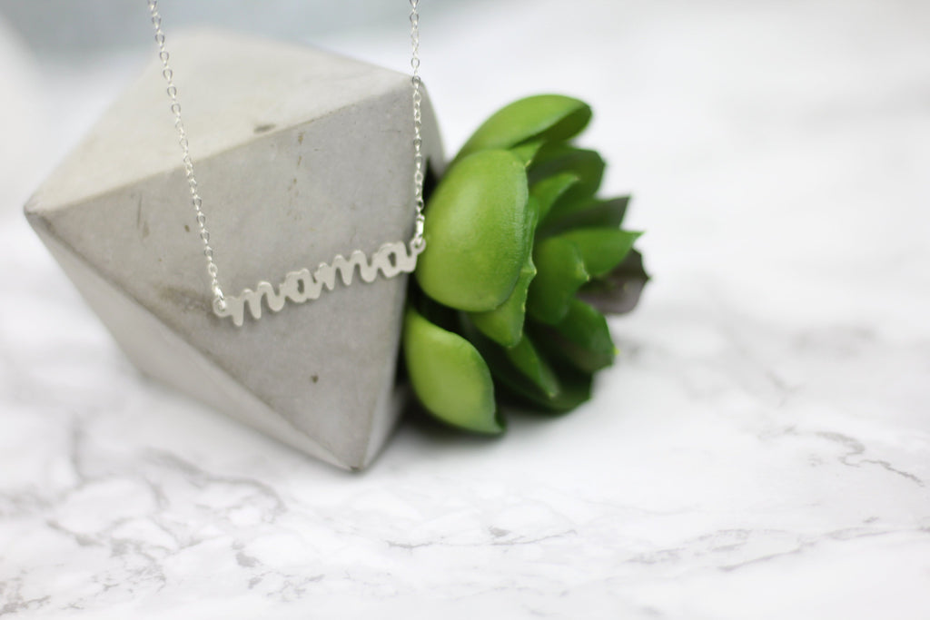 MAMA Hand-Sawed Necklace