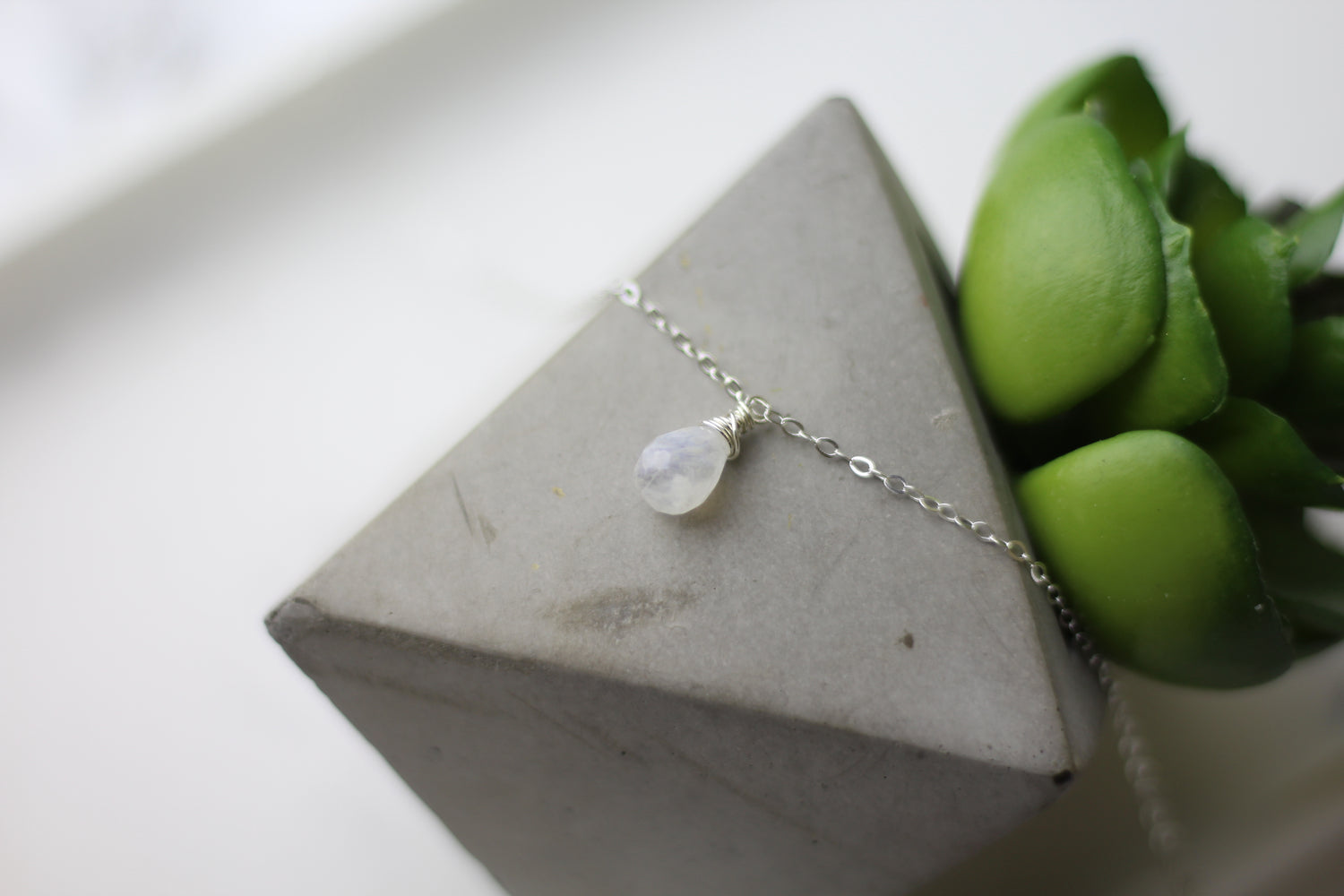 Moonstone Tear Drop Necklace