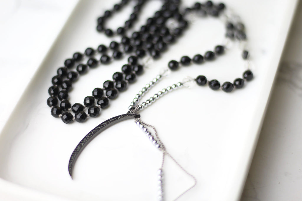 Strength Crescent Mala Necklace