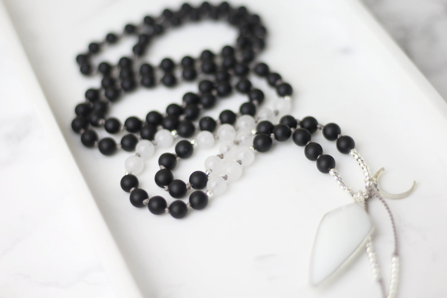 Positive Strength Mala Necklace
