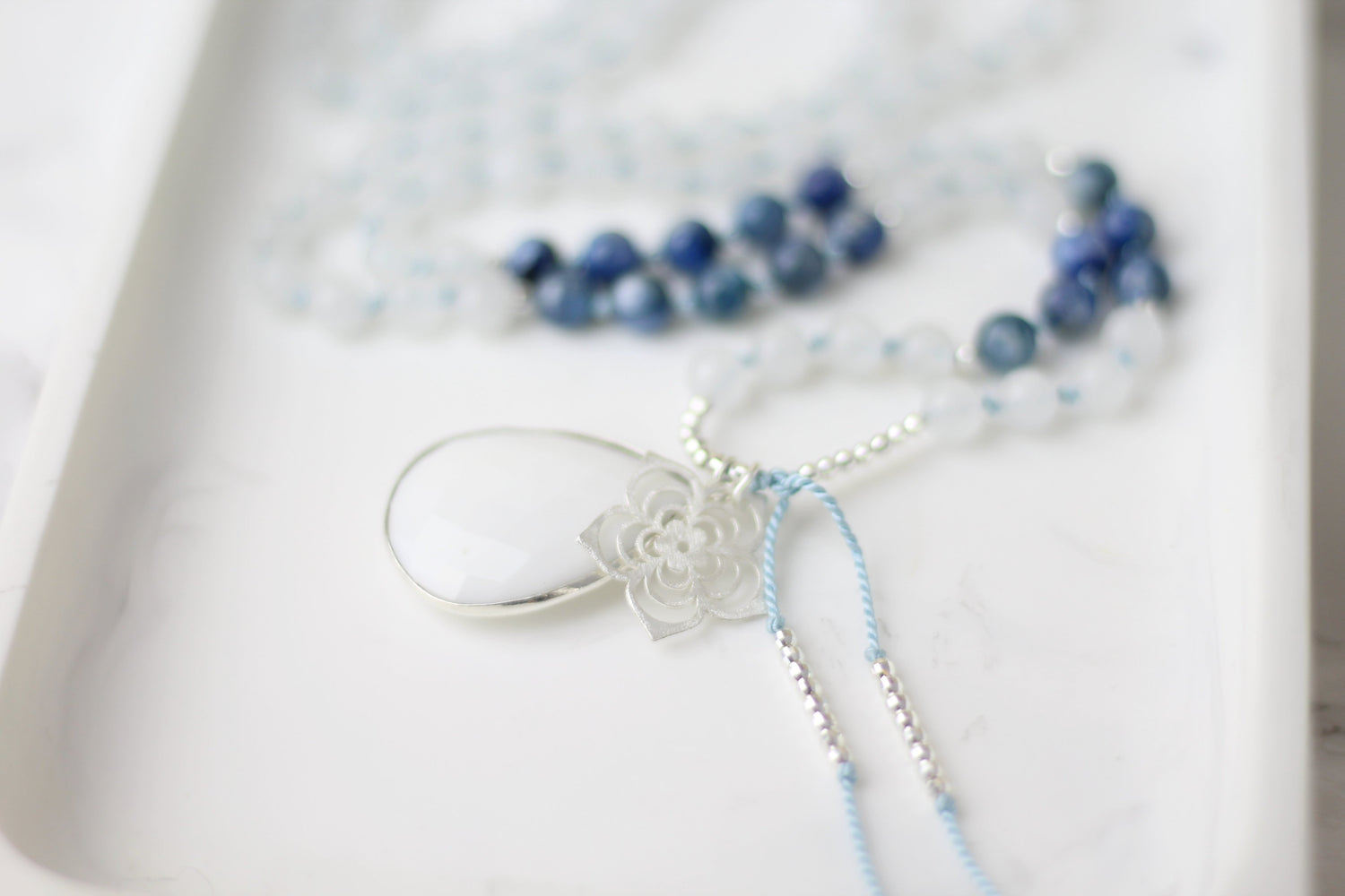 Inner Strength Kyanite Mala Necklace