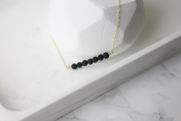Lava Simple Bar Diffuser Necklace
