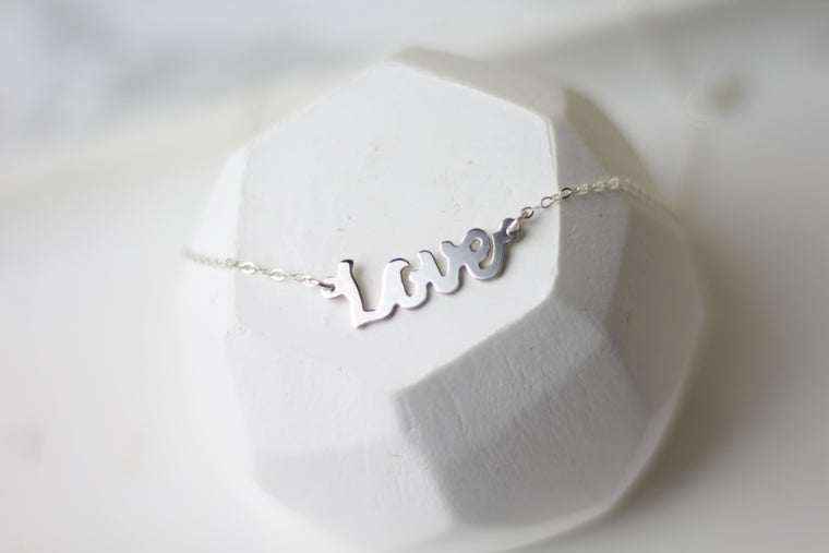 Love Hand-Sawed Necklace