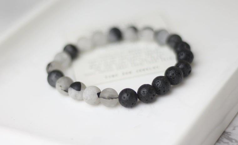 Happy Mood (anti-depression) Lava Diffuser Bracelet