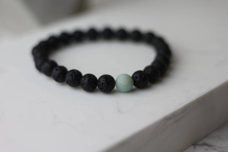 Men Emotions Control Lava Diffuser Bracelet