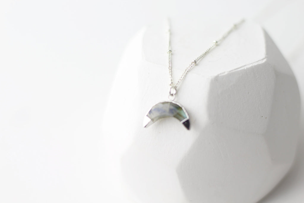 Healing Crescent Labradorite Necklace