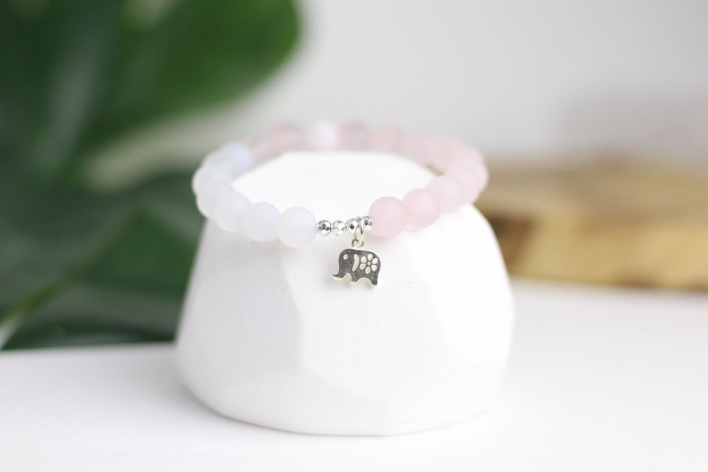 True Love Rose Quartz Wrist Mala