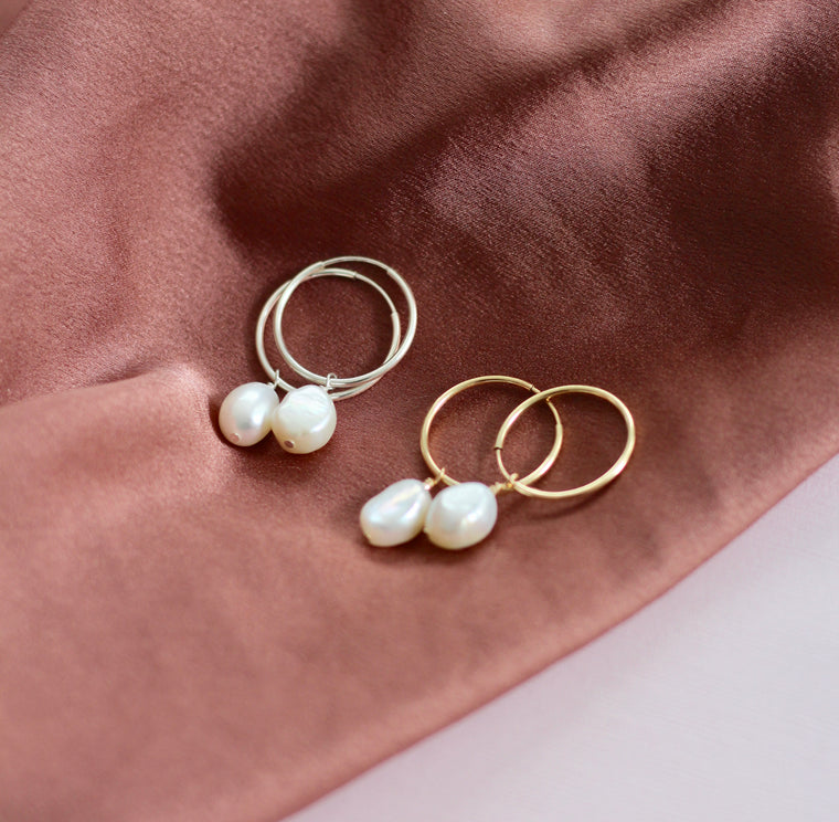 Protection Baroque Pearl Earrings