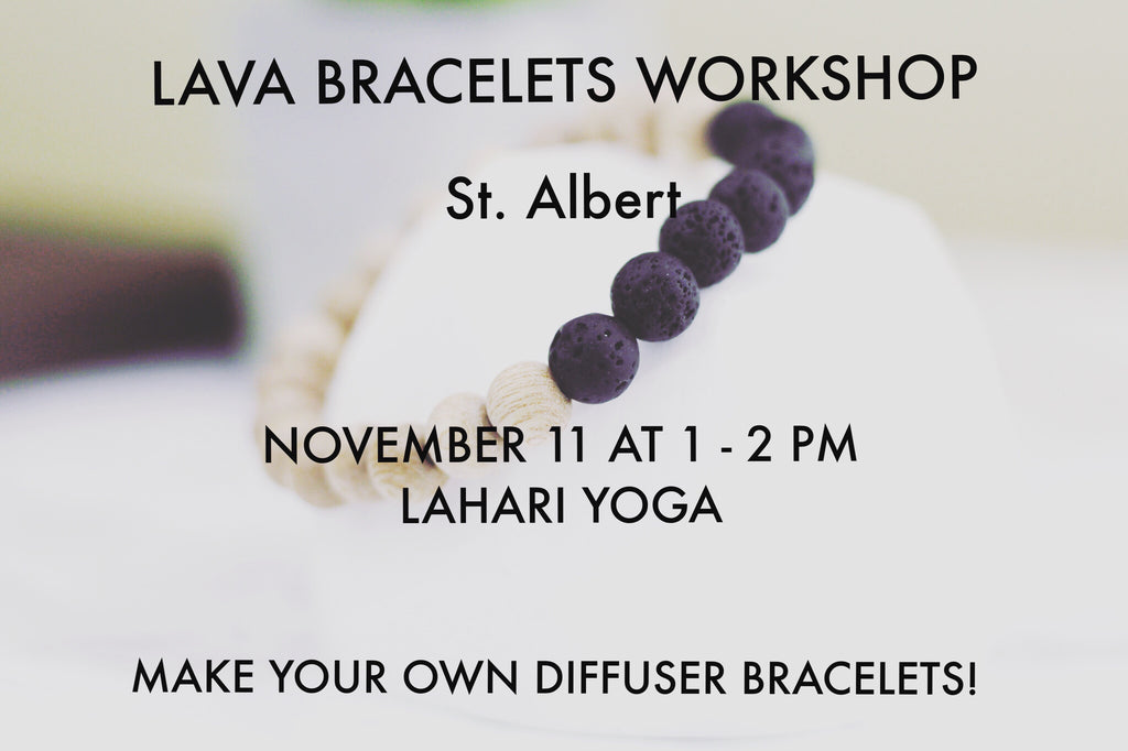 Lahari Yoga Nov 11 1PM - Edmonton Lava Bracelets Workshop
