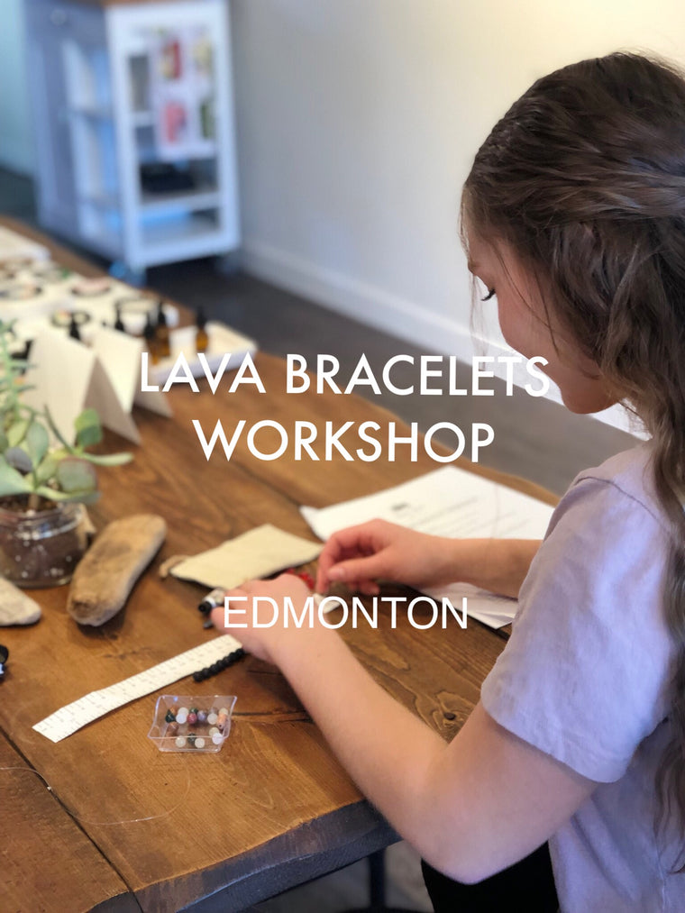 Lava Bracelets Workshop Edmonton, The Health Collective, Mar 3 1-3 PM
