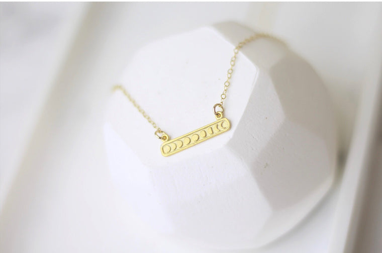 Moon phase Gold Necklace