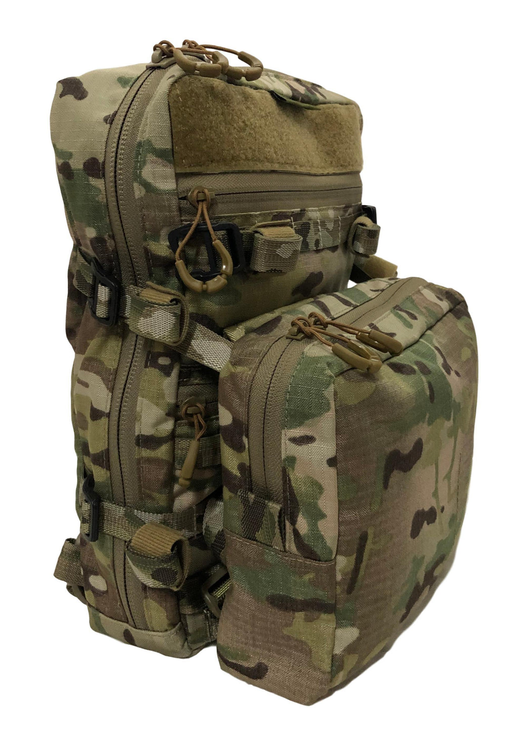 High Range Outdoors Australian Made Bolt 12 Multicam 12L EDC Hunting Day pack with Loady Pouch molle velcro and compression straps for hunting