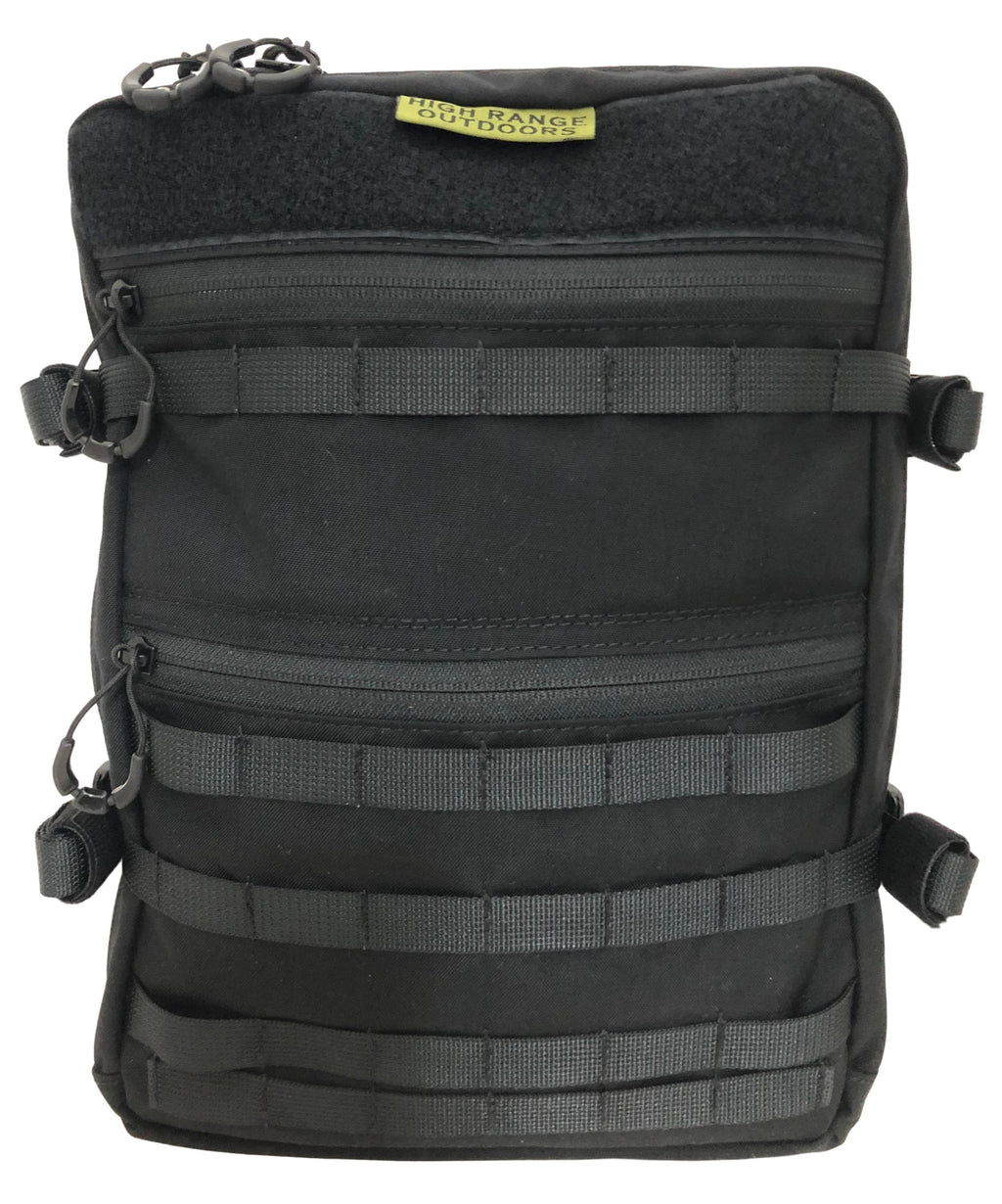 High Range Outdoors Australian Made Bolt 12 12L EDC Day pack front view with molle velcro and compression straps for hunting
