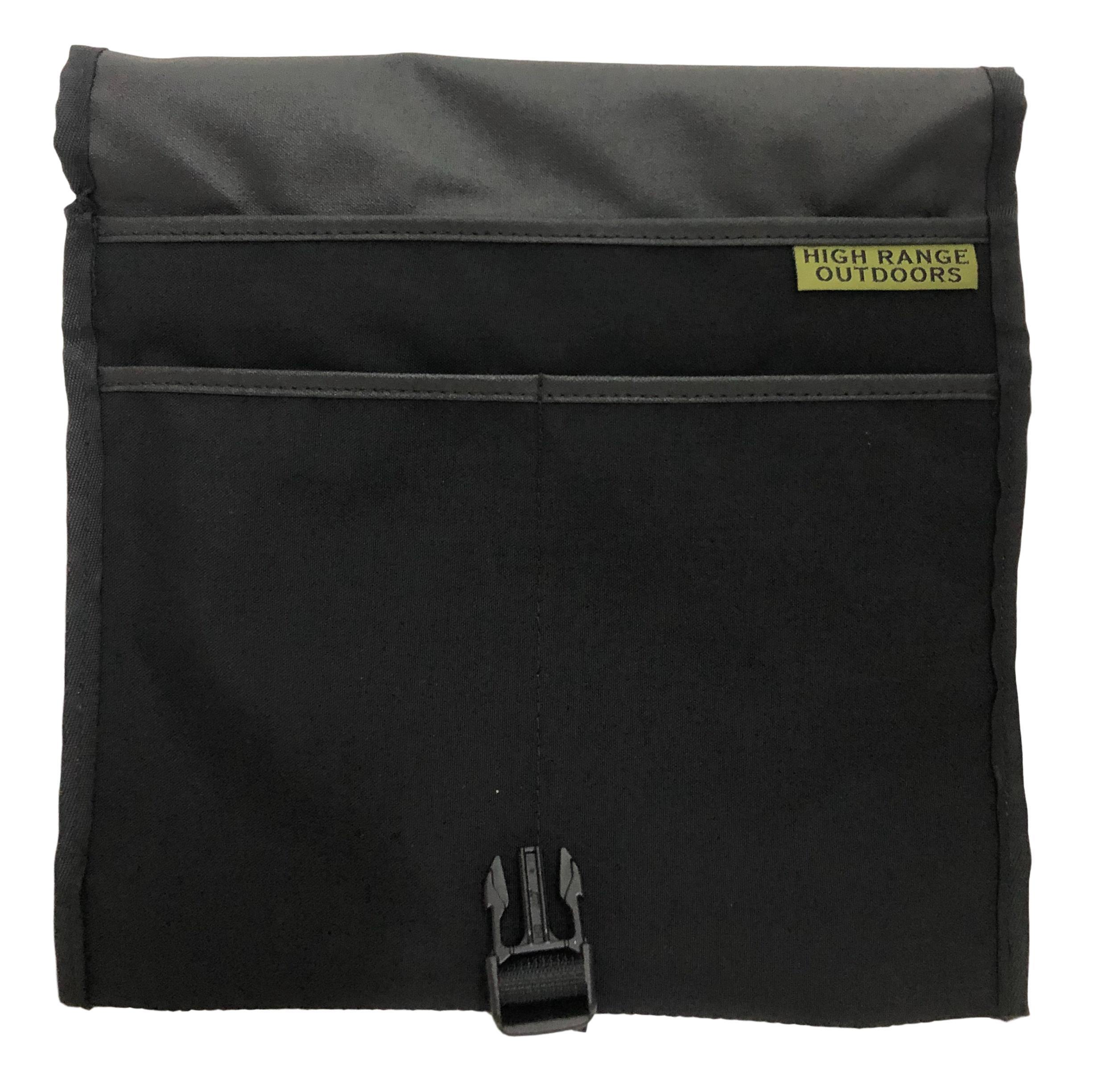 High Range Outdoors Satch Man Bag Black pockets for admin EDC Urban Adventures