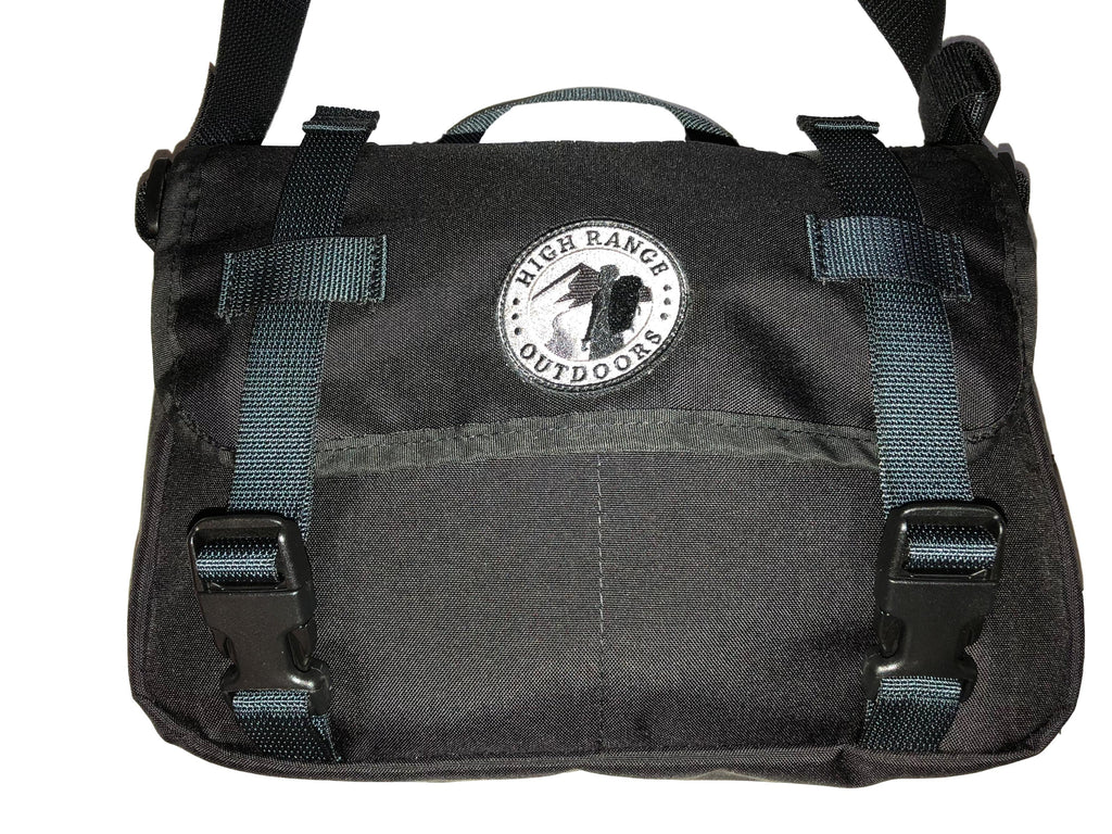 Front view of Man Bag in black