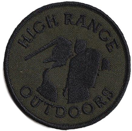 Green High Range Outdoors Round Patch with HRO Logo in Black