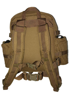 High Range Outdoors Zulu 20 Clamshell Day Pack Coyote Brown Shoulder Straps